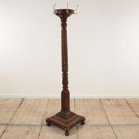 "5'10"" Mahogany Barley Twist Victorian Hat & Coat Stand"