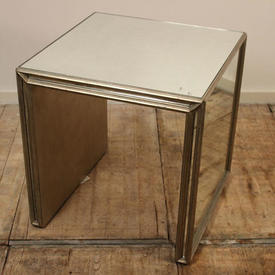 Sq Eglomise Top & Sedie Lamp Table  with Verre Eglomise inset Top & Sides  (H61Cm  x  W&D59Cm)