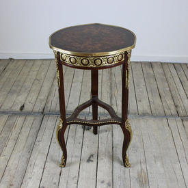 2'9 Mah Marquetry & Brass inlaid Lamp Table