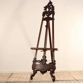 7' Carved Mahogany Victorian Easel