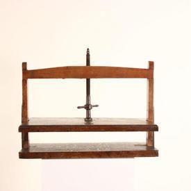 Dark Oak Table Top Printing Press