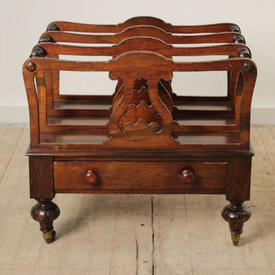 Mahogany Victorian Canterbury with Drawer