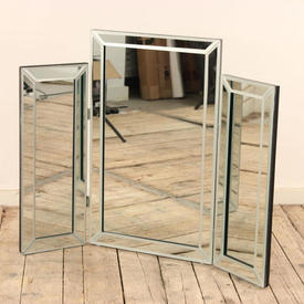Triple Dressing Table Mirror with Bevelled Edges