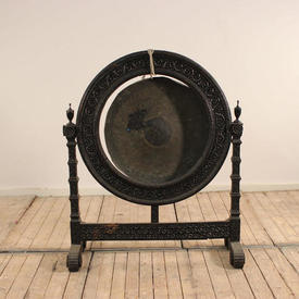 Black Chinese Gong And Stand