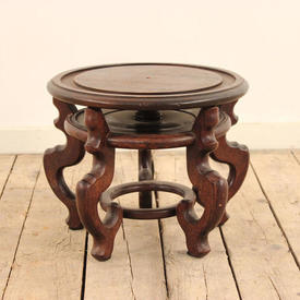 """14"""" Mahogany Low Chinese Pattern Low Stand"""