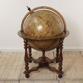 """3'6"""" Victorian Globe on Mahogany Circ  Base"""