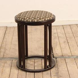 Mahogany Hoffman Style Circular Stool