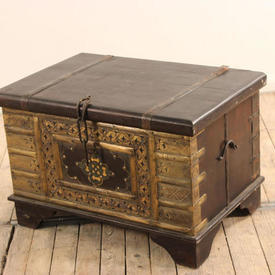 "2""3  x  18"" Hardwood & Brass Chest with Chain Lock"