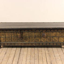 5' Hardwood & Embossed Brass Front Chest