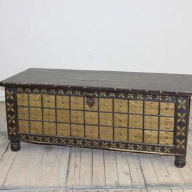 5' Hardwood Brass Decor Studded Blanket Chest