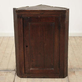 18Th Century Oak Joined Hanging Cupboard with Panelled Door