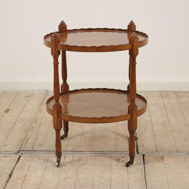 Fruitwood 2-Tier Circular Trolley