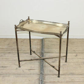 Silver Fretted Gallery Edge Butlers Tray on  x  Framed Base