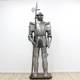6' Suit Of Armour on Wooden Stand
