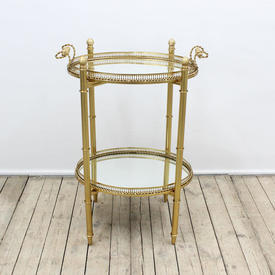 "2'6"" Gilt Two Tier Mirrored Drinks Stand"