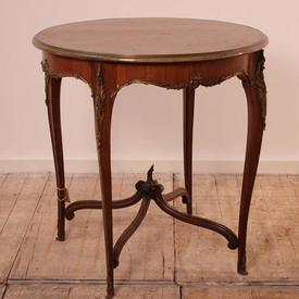 "Kingwood 2'6"" Circular Louis Style Occasional Table with Ormolu Mounts"