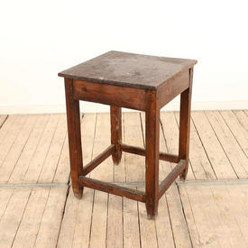 """19"""" Square, Stained Pine Work Table"""