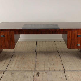 """6'10"""" Rosewood Deco Style Office Desk"""