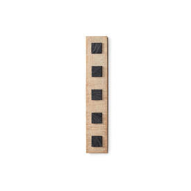 """Rect Carved Ash & Slate inlay """"LH"""" Wall Mounted Sculpture"""