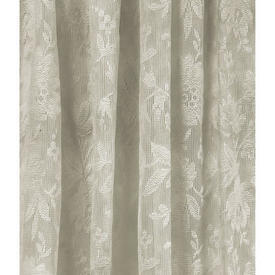 """Pr Nets 2'3"""" x 3'4"""" Cream All Over Floral Lace"""