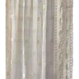 "Pr Nets 2'6"" x 5' Aged Cream Edward Lattice Lace"