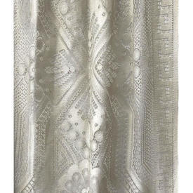 """Panel 2'6"""" x 8' Cream Large Geo Floral Lace"""