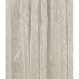 "Pr Nets 2'5"" x 4'9"" Ivory Floral Sprig Lattice Lace"