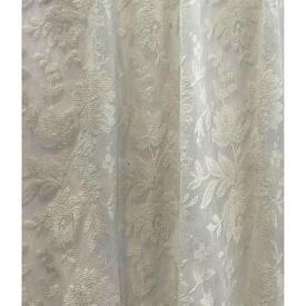 """Pr Nets 2'6"""" x 6'9"""" Cream Floral Lace"""