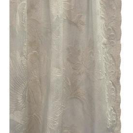 """Pr Nets 2'6"""" x 5' Buttermilk Large Floral Lace"""