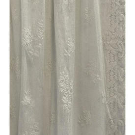 "Pr Nets 2'10"" x 4'6"" Cream Rosebud Lace"