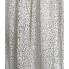 "Pr Nets 3' x 3'6"" Off White All Over Circ Floral Lace"