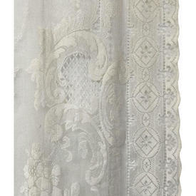 """Pr Nets 3' x 4'6"""" Cream Large Floral Scroll Lace"""