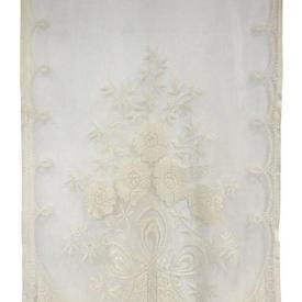 """Pr Panels 3'7"""" x 2' Buttermilk Floral Spray Lace"""