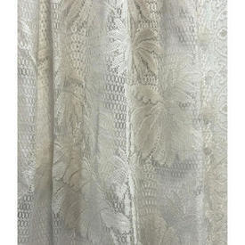 Pr Nets 3' x 4' Ivory Large Fern Leaf Lace