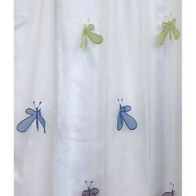 """Pr Nets 3'2"""" x 4' White / Multi Kryp Slanda Butterflies Voile"""