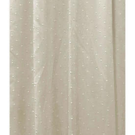 "Pr Nets 3'3"" x 4' Dirty Cream Square Dot Muslin"