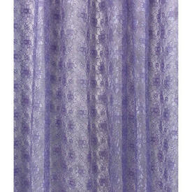 """Pr Nets 3'3"""" x 4' Lilac Small Floral Silky Poly-lace"""