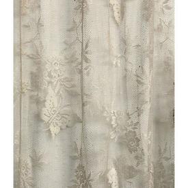 "Pr Nets 3'9"" x 6' Cream Floral & Butterflies Lace"