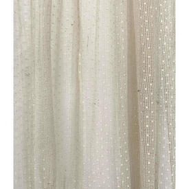 "Pr Nets 3'4"" x 4' Cream Tiny Spot Lace"