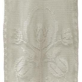 "Pr Nets 2'11"" x 1'4"" Cream Tulip Motif Cotton Crochet"