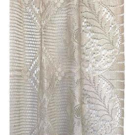 "Pr Nets 3'1"" x 2' Dark Cream Diamond Flower Lace"