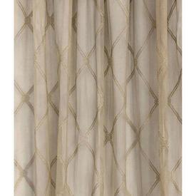 "Pr Nets 4'5"" x 3'9"" Sand Large Lattice Lace"