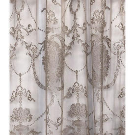 "Pr Nets 4'6"" x 4'6"" Coffee Floral Medallion Poly-Lace"