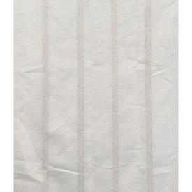 """Pr Nets 4'1"""" x 4'9"""" Ivory Stripe Linen Effect"""