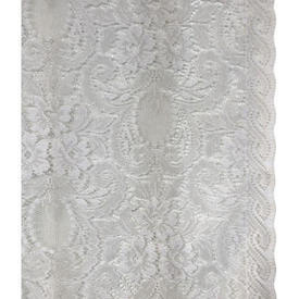 "Pr Nets 4'5"" x 2'4"" Off White All Over Floral Lace"