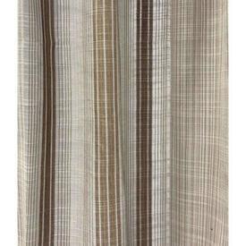 """Pr Nets 4'4"""" x 4'9"""" Beige / Brown Stripe Weave"""