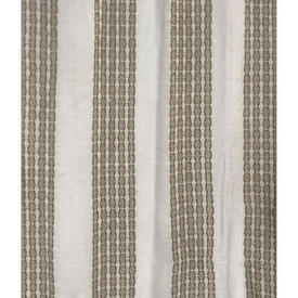 "Pr Nets 4'9"" x 3'9"" Ivory / Light Brown Stripe Banded Woolly Weave"