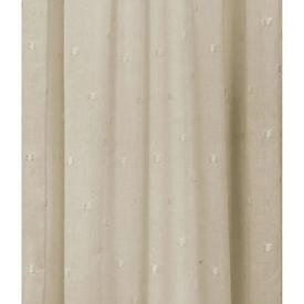 Pr Nets 4' x 7' Cream Tuft Spot Muslin