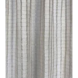 """Pr Nets 4'9"""" x 4' White Check Stripe Cotton Weave"""