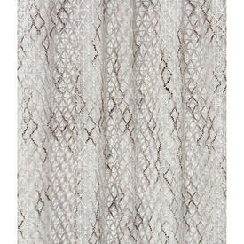"Pr Nets 4' x 5'8"" Off White / Dark Brown Open Diamond Woolly Weave"